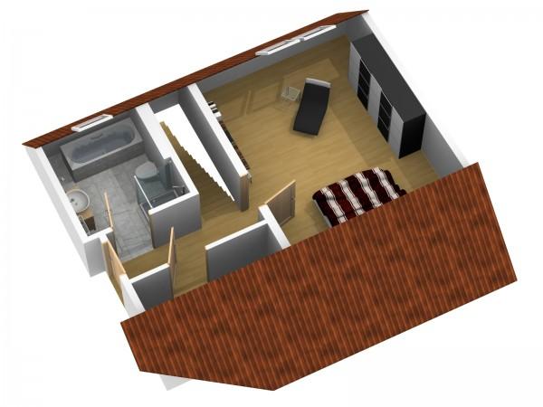 Wohnungsgrundriss oben