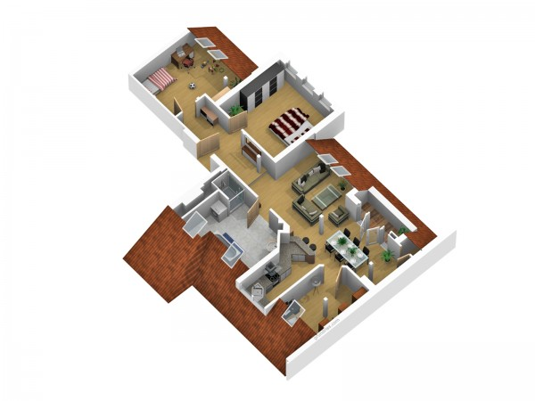 Wohnungsgrundriss Variante 2